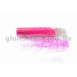 Блестки для ногтей, цвет - розовый, в пробирке