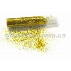 Блестки для ногтей, цвет - золото №2, в пробирке