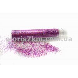 Блестки для ногтей, цвет - лиловый, в пробирке