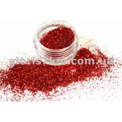 Блестки для ногтей Lidan в баночке, цвет - красный