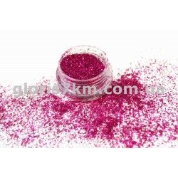 Блестки для ногтей Lidan в баночке, цвет - марганец