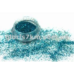 Блестки для ногтей Lidan в баночке, цвет - голубой