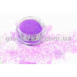 Блестки для ногтей Lidan в баночке, цвет - светло-фиолетовый