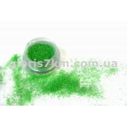 Блестки для ногтей Lidan в баночке, цвет - зеленый