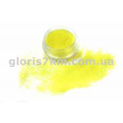 Блестки для ногтей Lidan в баночке, цвет - желтый