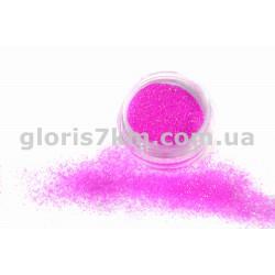 Блестки для ногтей Lidan в баночке, цвет - малиновый