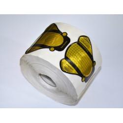 """форма для наращивания золото широкая """"муха"""" 500 шт"""