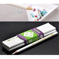 карандаш для захвата страз белый уп.10шт