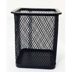 Стакан-подставка для кистей и пилок квадрат сетка