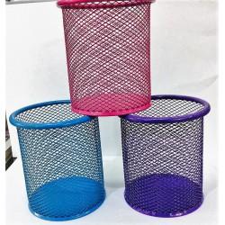Стакан-подставка для кистей и пилок(цилиндр) цветная сетка