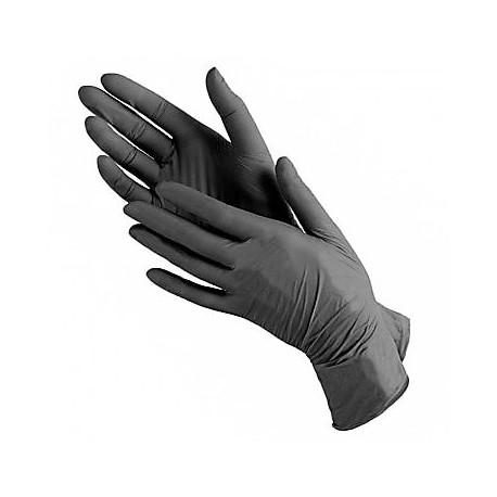 Перчатки нитриловые (уп.80шт) без пудры черные Имидж