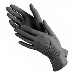 Перчатки нитриловые (уп.80шт) без пудры черные Имидж S