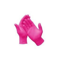 Перчатки нитриловые (уп.80шт) без пудры розовый Бьюти р.S
