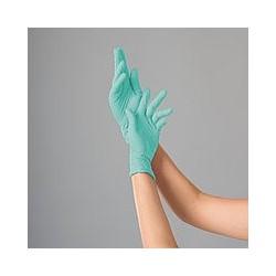 Перчатки нитриловые (уп.100шт) без пудры зеленые Антистресс p.M