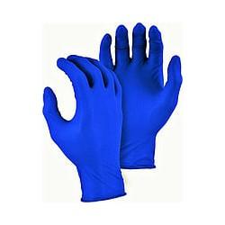 Перчатки нитриловые (уп.100шт) без пудры синие p. S