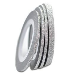 Нить для ногтей самоклеющаяся в рулоне 2мм,серебро
