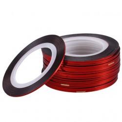 Нить для ногтей самоклеющаяся в рулоне 0,8 мм, красная