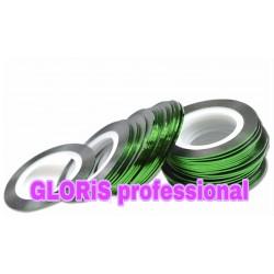 Нить для ногтей самоклеющаяся в рулоне 0,8 мм, зеленая