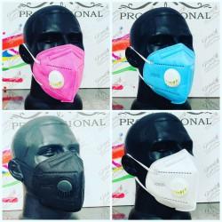 маска с клапаном цветная (розовая, голубая, белая,черная, серая)