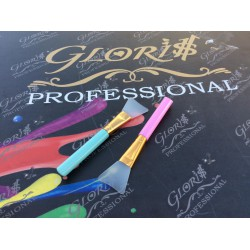 косметический силиконовый шпатель цветная ручка длина 14 см