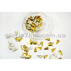 Металлические фигурки для дизайна золото - треугольник