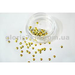Металлические фигурки для дизайна золото - круг уп.100шт