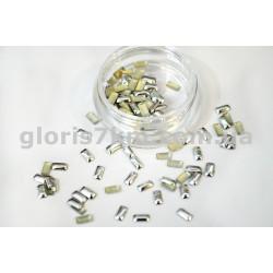 Металлические фигурки для дизайна серебро - прямоугольник уп.100шт