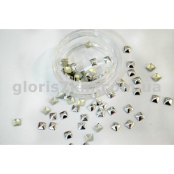 Металлические фигурки для дизайна серебро - квадрат уп.100шт
