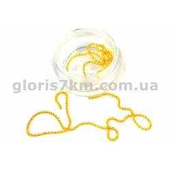 Металлическая нить-цепочка для дизайна золото