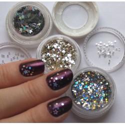 Шестигранники для декора ногтей